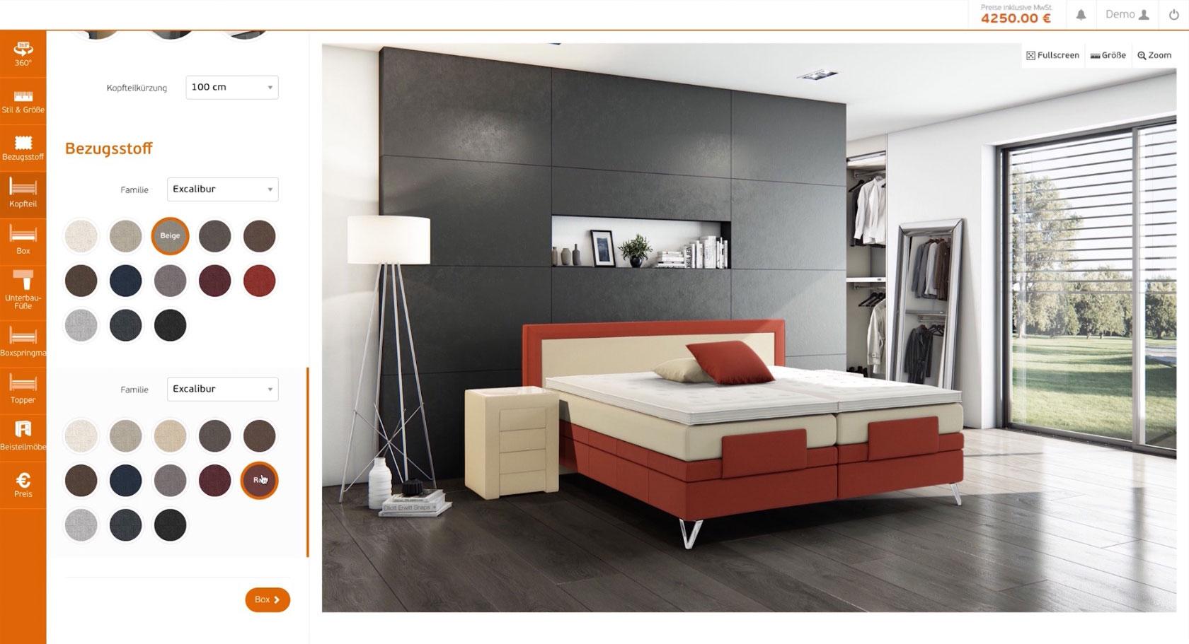 unser boxspringbetten konfigurator benker betten. Black Bedroom Furniture Sets. Home Design Ideas